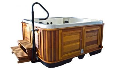 Hot Tub Handrails and Towel Bars: Safety and Convenience