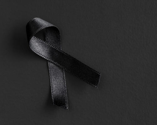 black satin ribbon